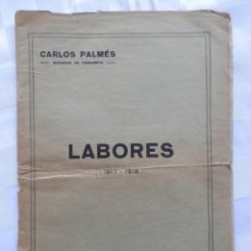 Antigüedades: MUY RARO CATÁLOGO DE LABORES DE LOS AÑOS 1917-18 EMPRESA CARLOS PALMÉS EN BARCELONA 20 PÁGS MODELOS. Lote 283730828