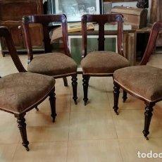 Antigüedades: SILLAS CLASICAS DE DESPACHO CON RUEDAS. Lote 283755638