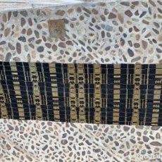 Antigüedades: CORTINA PAÑO ETNICA NEGRA AMARILLA AÑOS 30 109X325CMS. Lote 283766228