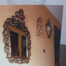 Antigüedades: ESPEJO DE MADERA DORADO.. Lote 283840063