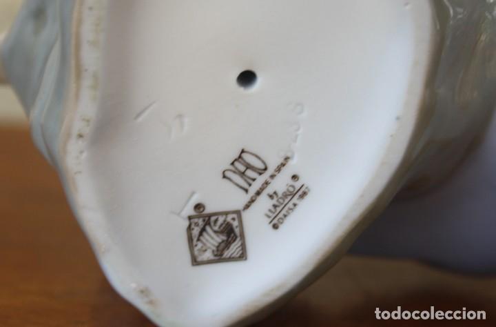 Antigüedades: PRECIOSA FIGURA PORCELANA NIÑA CON PAJARITO - NAO HAND MADE IN SPAIN – HECHA A NANO – LLADRO ESPAÑA - Foto 5 - 283919223