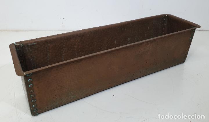 GRAN MACETERO, JARDINERA DE COBRE - LARGO 100 CM - FONDO - 31 CM - ALTURA 28 - PESO 21 KG (Antigüedades - Hogar y Decoración - Maceteros Antiguos)