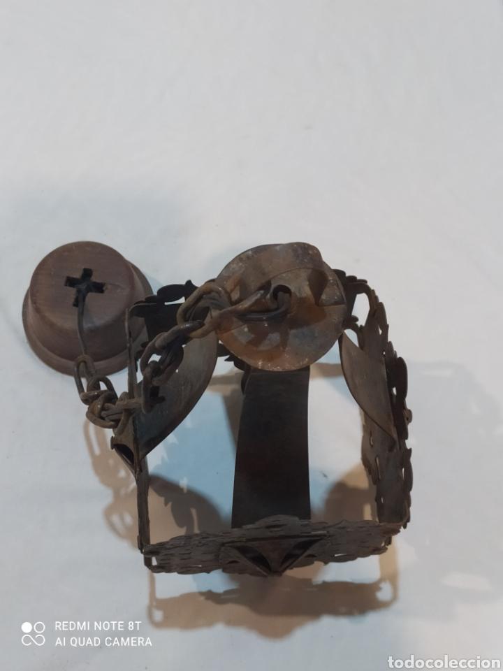 Antigüedades: Increíble lampara antigua de hierro forjado - Foto 7 - 283965063