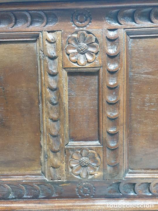 Antigüedades: Antigua Caja Barroca - Arcón, Baúl Catalán - Madera de Ribera - Patas de Garra - S. XVIII - Foto 22 - 284010268