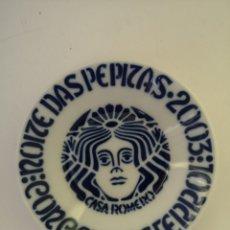 Antigüedades: PLATO SARGADELOS NOITE DAS PEPITAS 2003 CONCELLO DE FERROL CASA ROMERO. Lote 284045683
