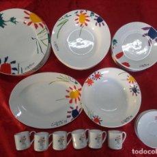 Antigüedades: VAJILLA PICASSO DE XL ART 2004, 6 PLATOS LLANO, 6 HONDO, 6 POSTRE, 6 CAFÉ Y 2 BANDEJAS.. Lote 284060508