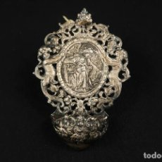 Antigüedades: ANTIGUA BENDITERA DE PLATA. Lote 284124033