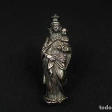 Oggetti Antichi: ANTIGUA VIRGEN CON EL NIÑO DE PLATA. Lote 284124558