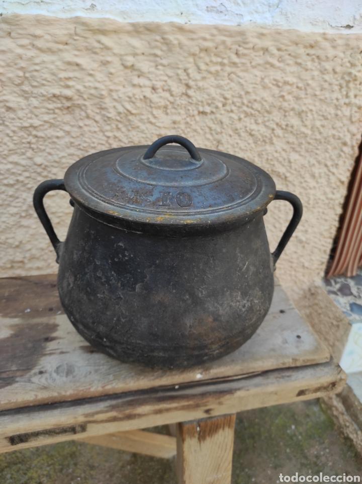 Antigüedades: Antigua Olla - Puchero de Hierro Colado - Foto 2 - 284162598