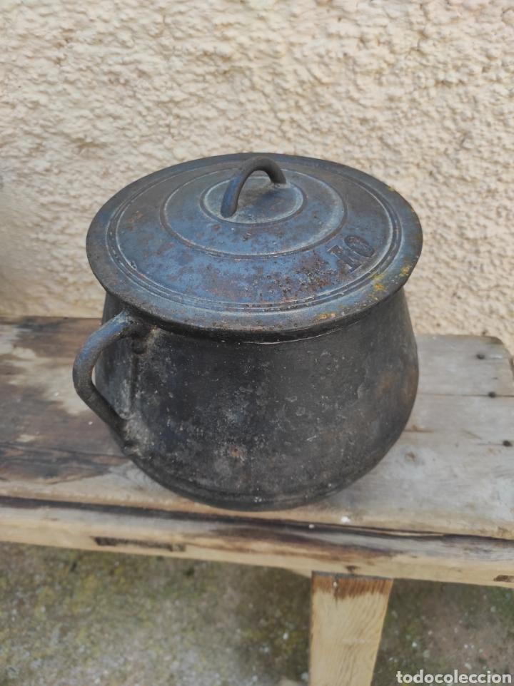 Antigüedades: Antigua Olla - Puchero de Hierro Colado - Foto 3 - 284162598