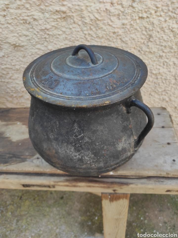 Antigüedades: Antigua Olla - Puchero de Hierro Colado - Foto 4 - 284162598