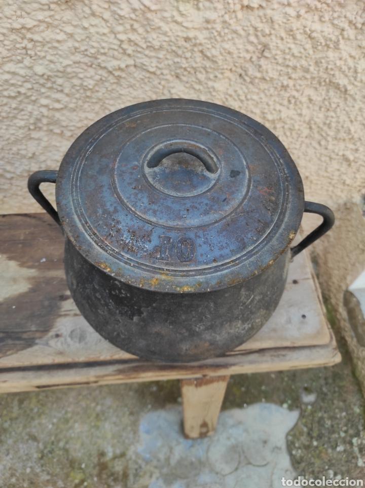 Antigüedades: Antigua Olla - Puchero de Hierro Colado - Foto 5 - 284162598
