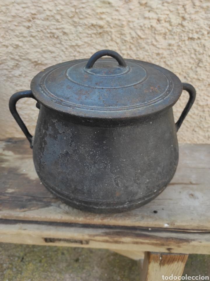 Antigüedades: Antigua Olla - Puchero de Hierro Colado - Foto 6 - 284162598