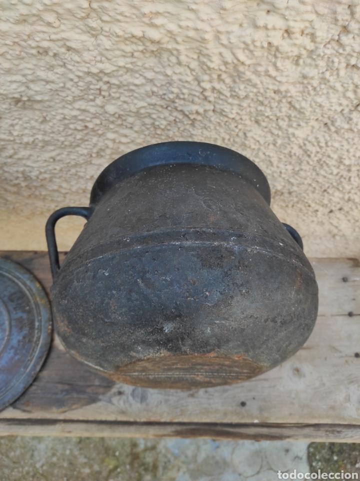 Antigüedades: Antigua Olla - Puchero de Hierro Colado - Foto 10 - 284162598