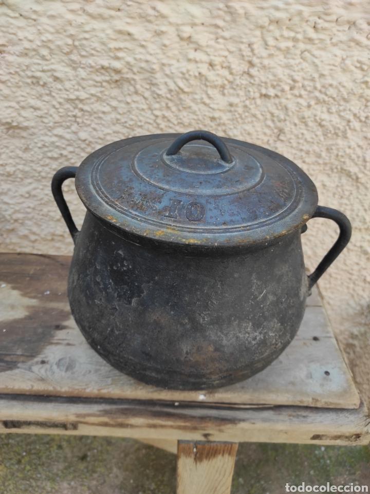 Antigüedades: Antigua Olla - Puchero de Hierro Colado - Foto 11 - 284162598