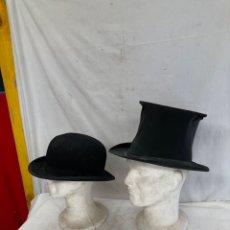 Oggetti Antichi: LOTE DE ANTIGUOS SOMBREROS PRINCIPIO 1900!. Lote 284187988