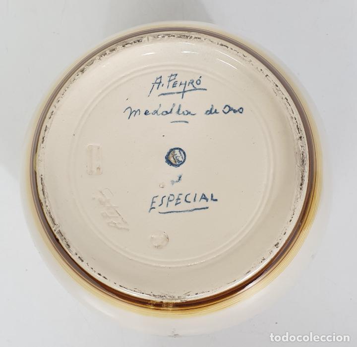 Antigüedades: Precioso Jarrón, Tibor - Firma A. Peyro Mezquita (1882-1954) - Jarrón Medalla de Oro, Especial - Foto 12 - 284244463