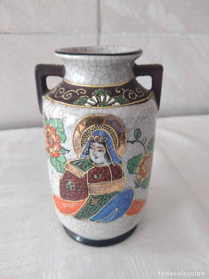 BONITO JARRÓN DE PORCELANA CRAQUELADA SATSUMA (Antigüedades - Porcelanas y Cerámicas - China)