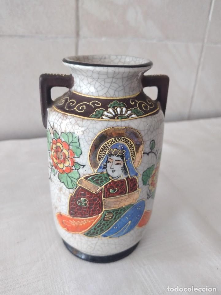 Antigüedades: Bonito jarrón de porcelana craquelada satsuma - Foto 3 - 284288228