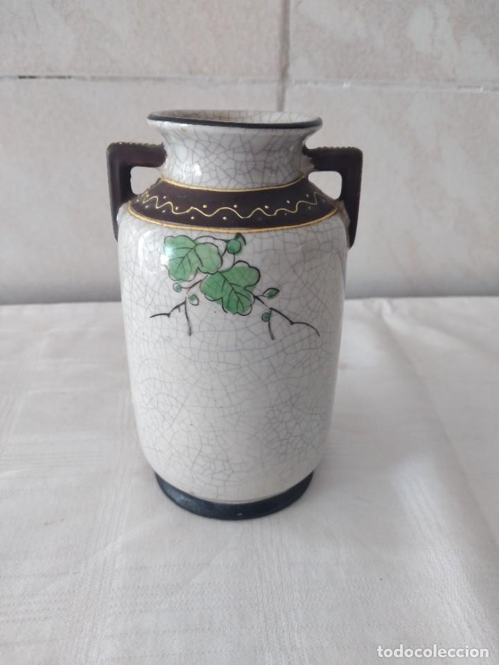 Antigüedades: Bonito jarrón de porcelana craquelada satsuma - Foto 5 - 284288228