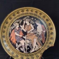 Antigüedades: PRECIOSO PLATO DE CERÁMICA GRIEGA PARA RESTAURAR ,29 CM DE DIÁMETRO,. Lote 284376668