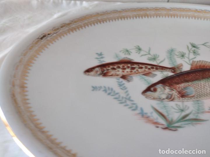 Antigüedades: Preciosa fuente oval de porcelana koenig porzellan bavaria,motivo peces y borde de oro - Foto 4 - 284412708