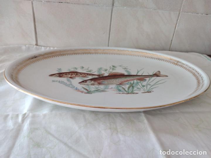 Antigüedades: Preciosa fuente oval de porcelana koenig porzellan bavaria,motivo peces y borde de oro - Foto 6 - 284412708