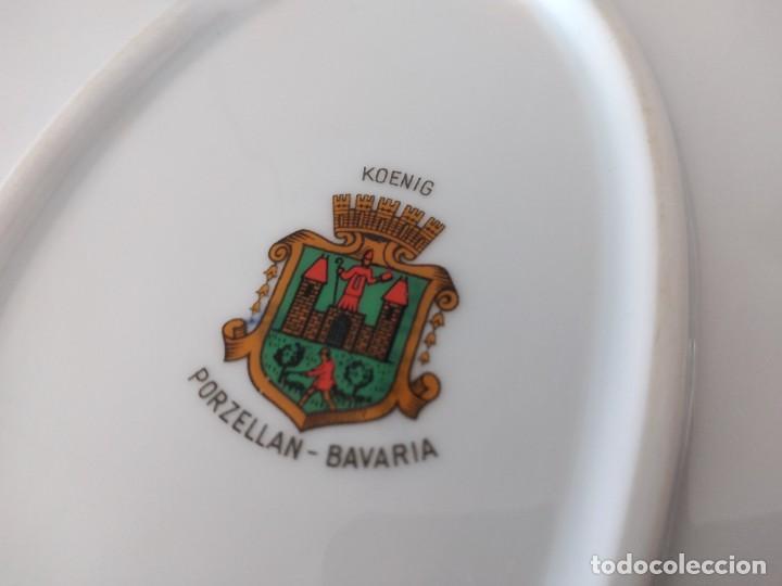 Antigüedades: Preciosa fuente oval de porcelana koenig porzellan bavaria,motivo peces y borde de oro - Foto 7 - 284412708