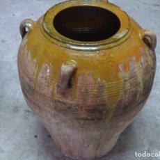 Antigüedades: TINAJA PARA ACEITE,BARRO CATALAN VIDRIADO,. Lote 284484813
