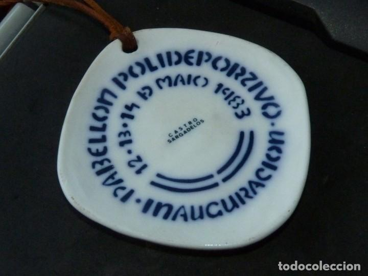 Antigüedades: Preciosa medalla Sargadelos Inauguracion Polideportivo Santiago Compostela O Castro 1983 raro - Foto 2 - 284516243