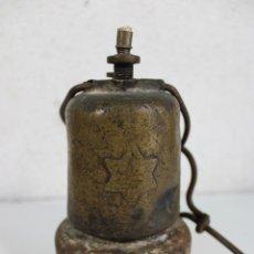 Antigüedades: ANTIGUA LAMPARA DE CARBURO. Lote 284542873