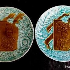 Antiguidades: PLATOS LOZA VILLEROY & BOCH S XIX ART NOVEAU. Lote 284600223