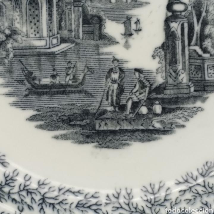 Antigüedades: Plato hondo PICKMAN, Cartuja de Sevilla, escena oriental y enramado, sello de años 1880 a 1910 - Foto 15 - 284618923