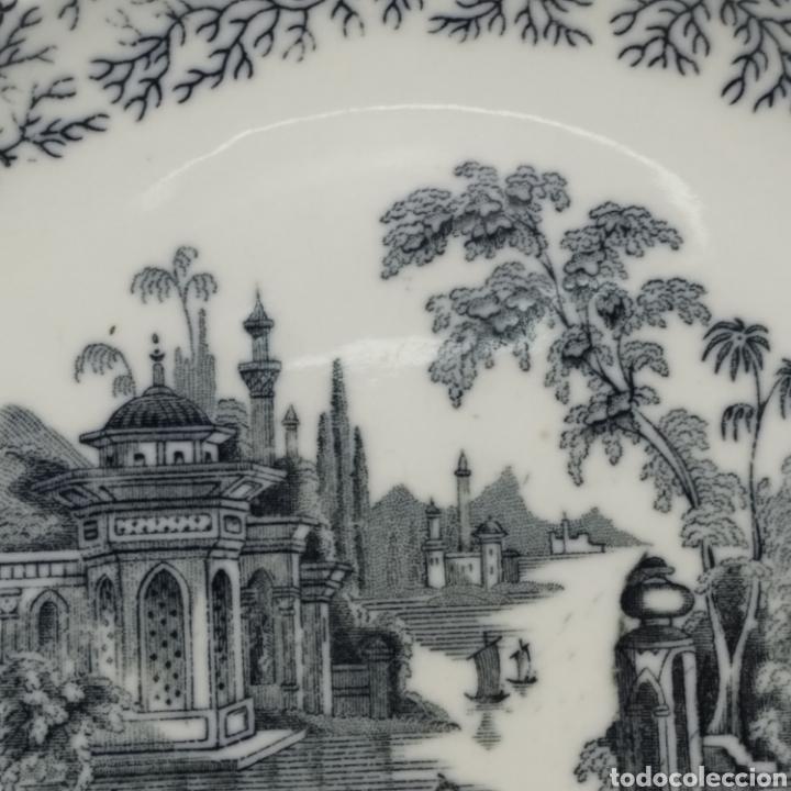 Antigüedades: Plato hondo PICKMAN, Cartuja de Sevilla, escena oriental y enramado, sello de años 1880 a 1910 - Foto 16 - 284618923