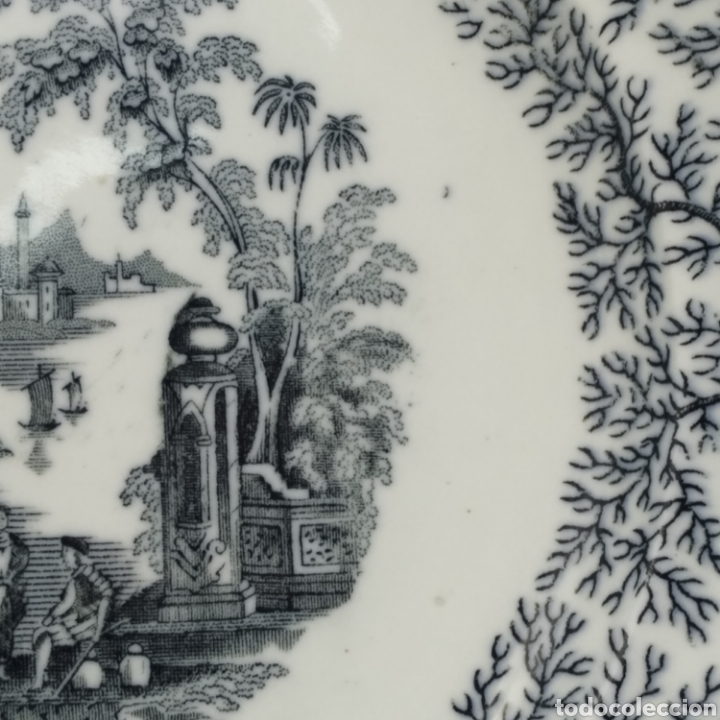 Antigüedades: Plato hondo PICKMAN, Cartuja de Sevilla, escena oriental y enramado, sello de años 1880 a 1910 - Foto 17 - 284618923