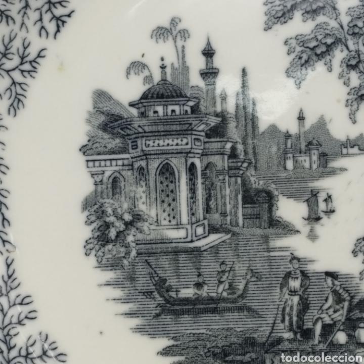 Antigüedades: Plato hondo PICKMAN, Cartuja de Sevilla, escena oriental y enramado, sello de años 1880 a 1910 - Foto 18 - 284618923