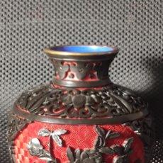 Antigüedades: JARRON CHINO LACA CINABRIO. Lote 284635353