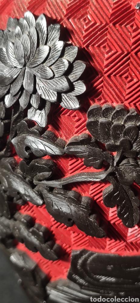 Antigüedades: Jarron chino laca cinabrio - Foto 9 - 284635353