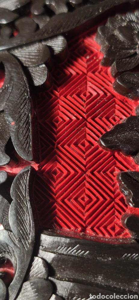 Antigüedades: Jarron chino laca cinabrio - Foto 2 - 284635353