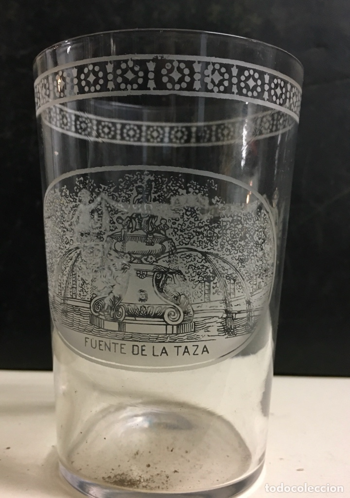 Antigüedades: Antiguo s vasos en Cristal de la Granja, grabados al ácido ,Siglo XIX - Foto 3 - 284666898