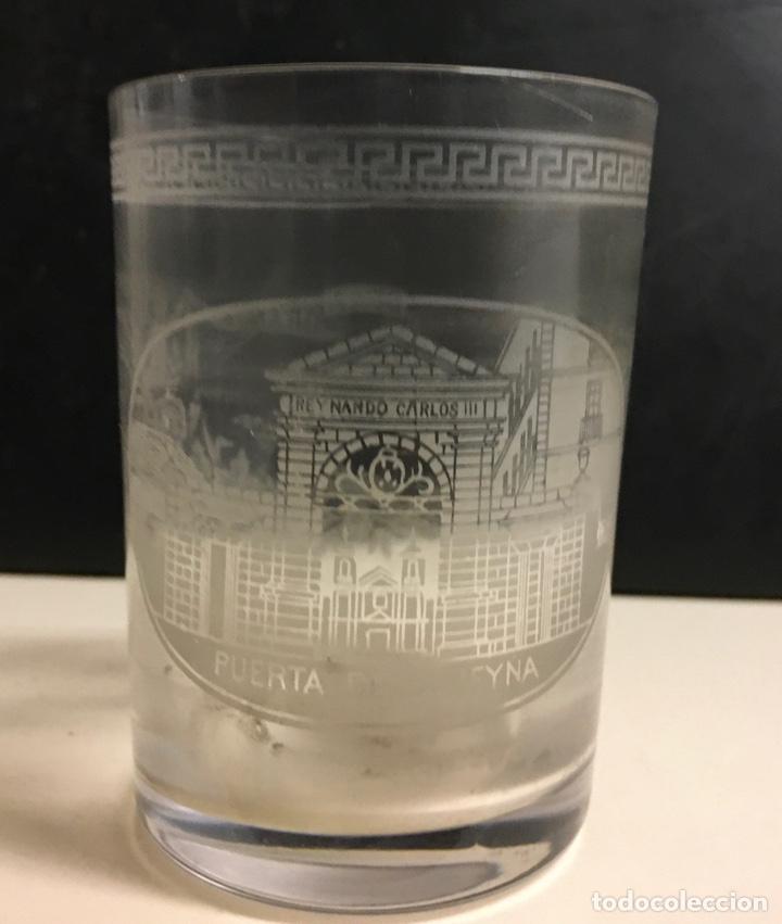 Antigüedades: Antiguo s vasos en Cristal de la Granja, grabados al ácido ,Siglo XIX - Foto 4 - 284666898