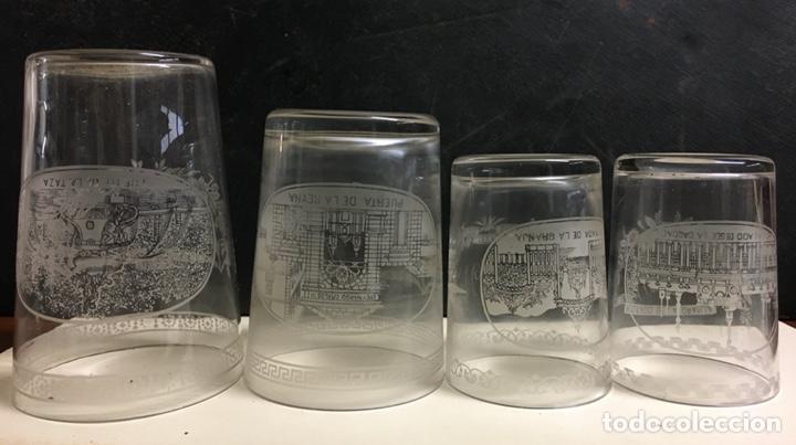 Antigüedades: Antiguo s vasos en Cristal de la Granja, grabados al ácido ,Siglo XIX - Foto 5 - 284666898