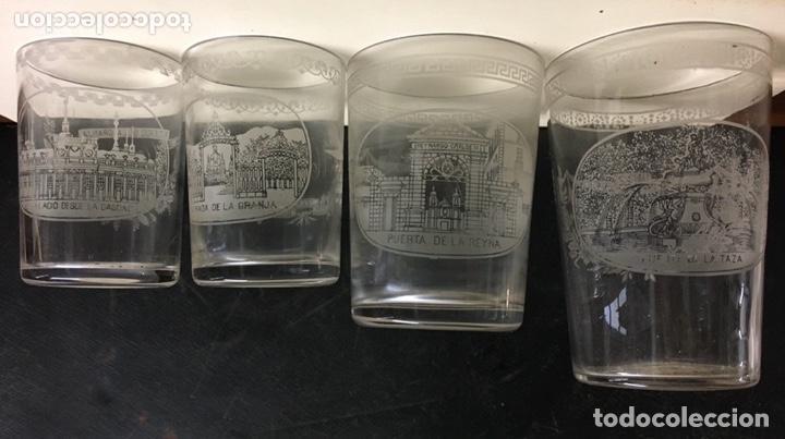 Antigüedades: Antiguo s vasos en Cristal de la Granja, grabados al ácido ,Siglo XIX - Foto 6 - 284666898