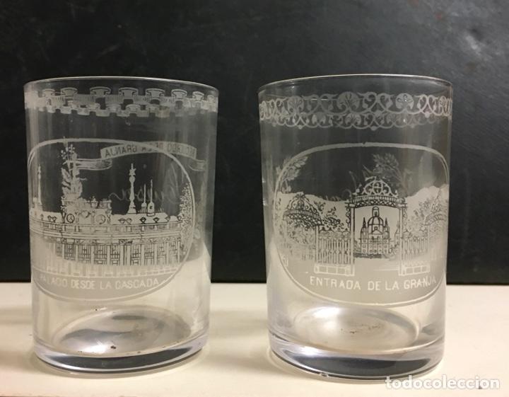 Antigüedades: Antiguo s vasos en Cristal de la Granja, grabados al ácido ,Siglo XIX - Foto 7 - 284666898