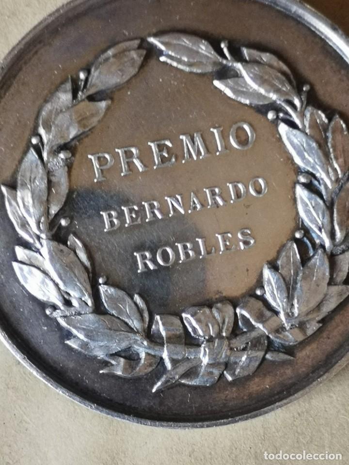 Antigüedades: Medalla plata premio Bernardo Robles - Foto 6 - 284660478