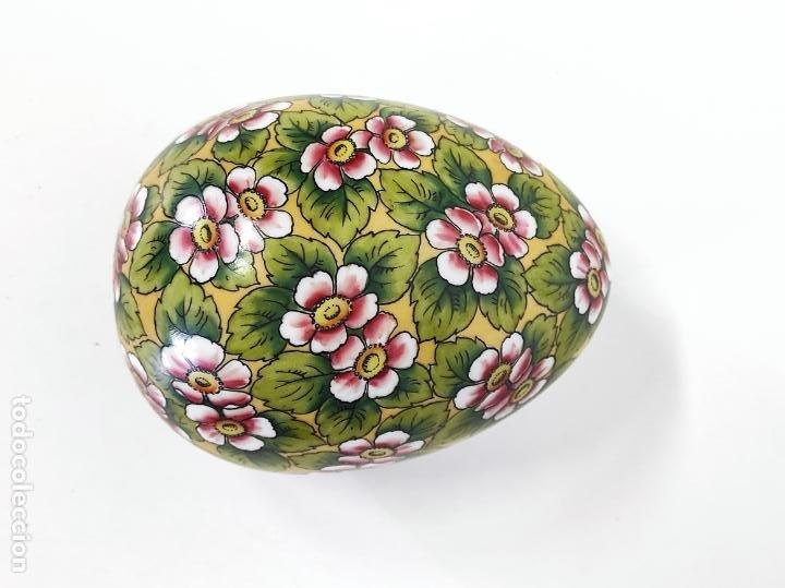 Antigüedades: Antigua Cajita en forma de Huevo - Porcelana de Biscuit - con Bonita Decoración - S. XIX - Foto 9 - 284776473