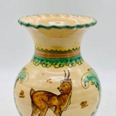 Antigüedades: JARRÓN ESCENA DE CAZA. Lote 284780128
