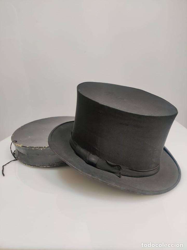 Antigüedades: Sombrero de Copa Frances con caja original, Paris S. XIX - XX - Foto 2 - 284795163