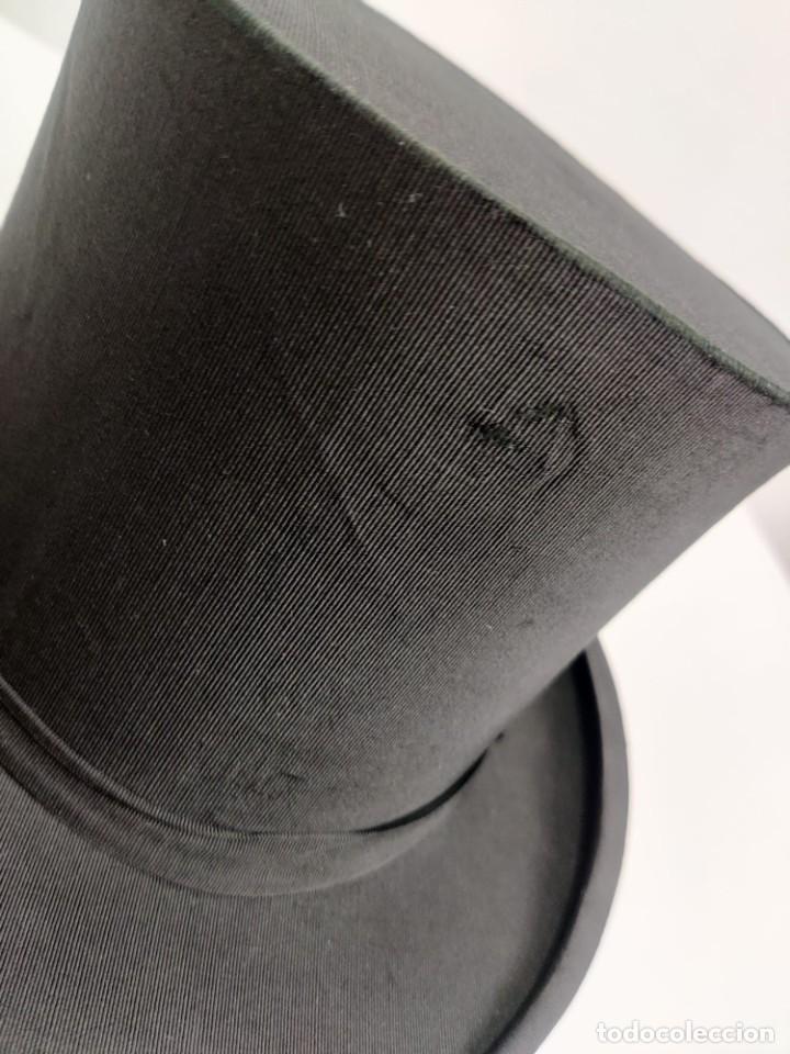 Antigüedades: Sombrero de Copa Frances con caja original, Paris S. XIX - XX - Foto 7 - 284795163