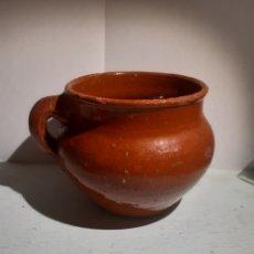 Antigüedades: JARRA BARRO VIDRIADA ROTA. Lote 284796433